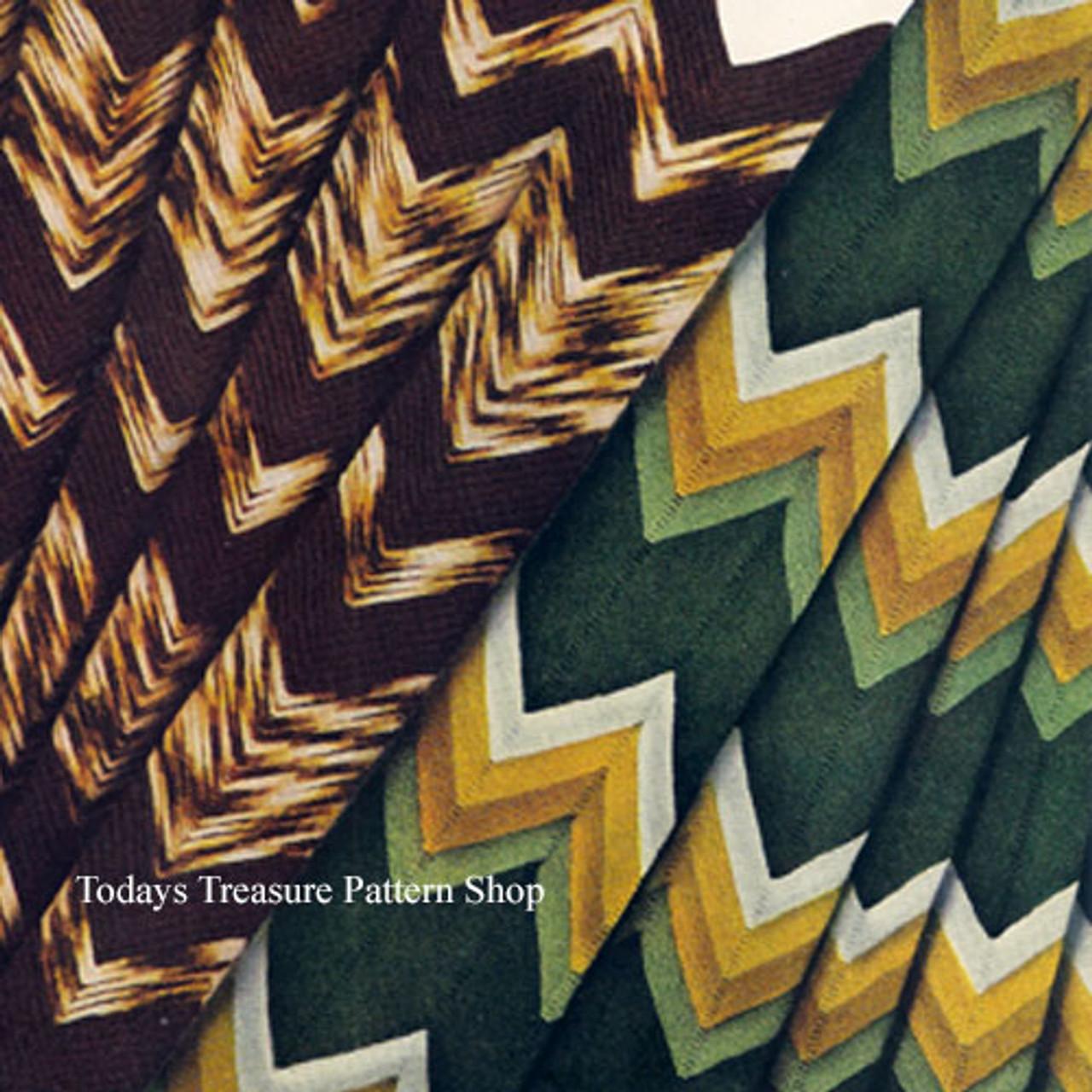 Ripple Crocheted Afghan Pattern Vintage 1930s