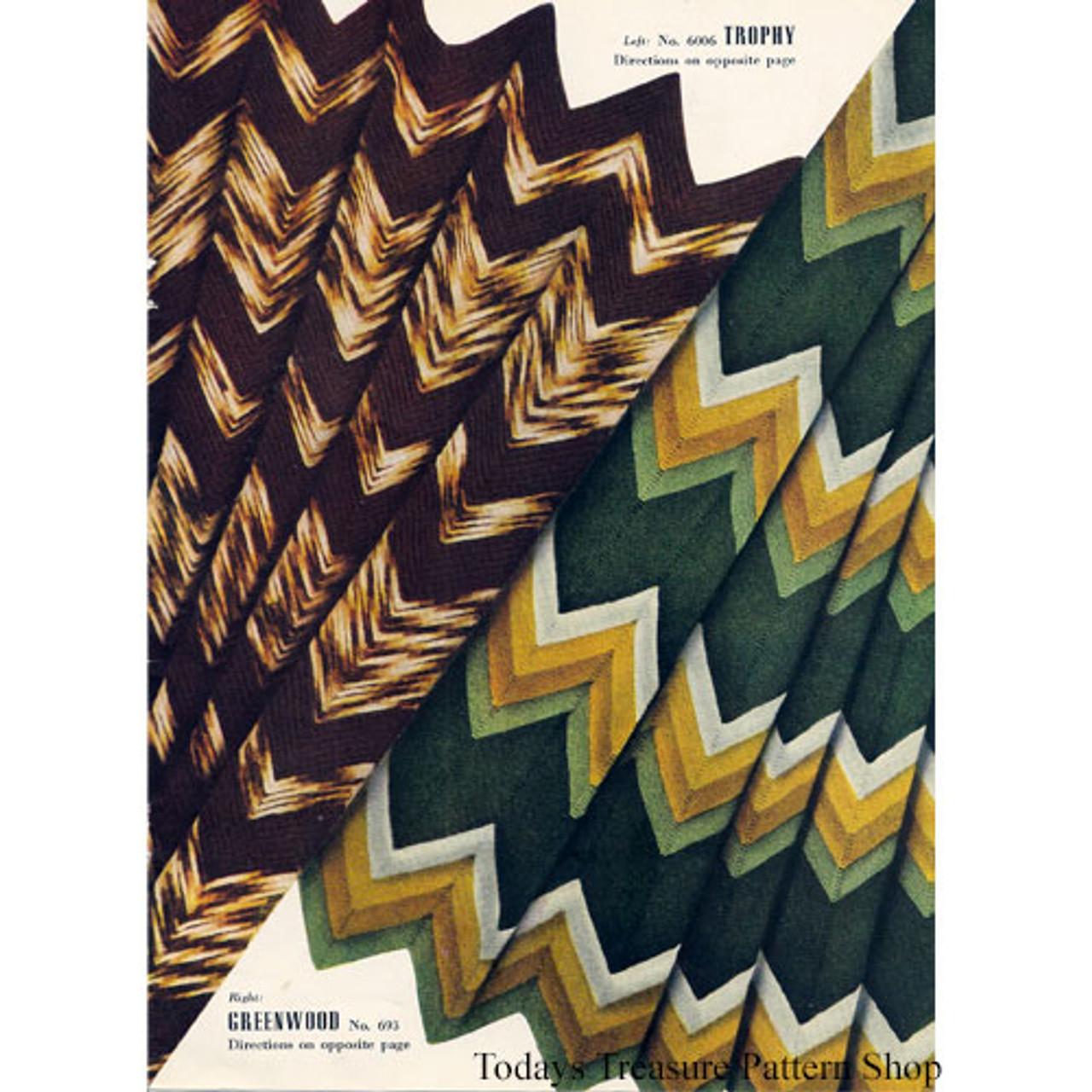 Ripple Knit Afghan Pattern 1930s