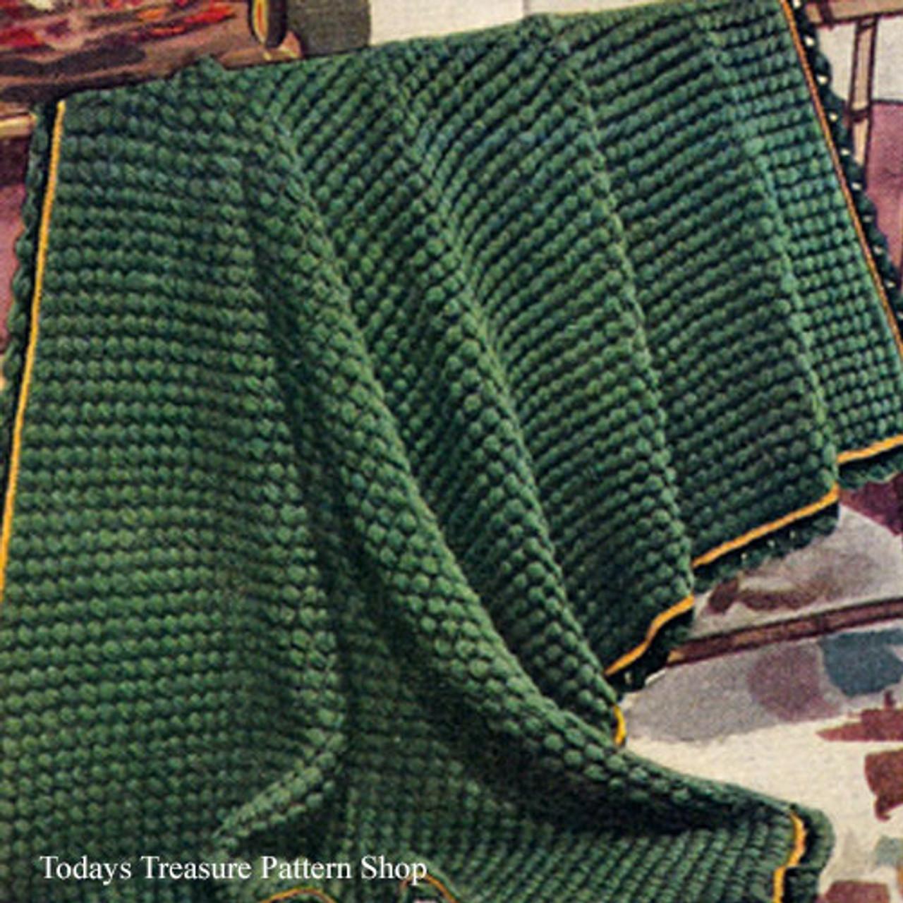 Green Pastures Crochet Afghan Pattern