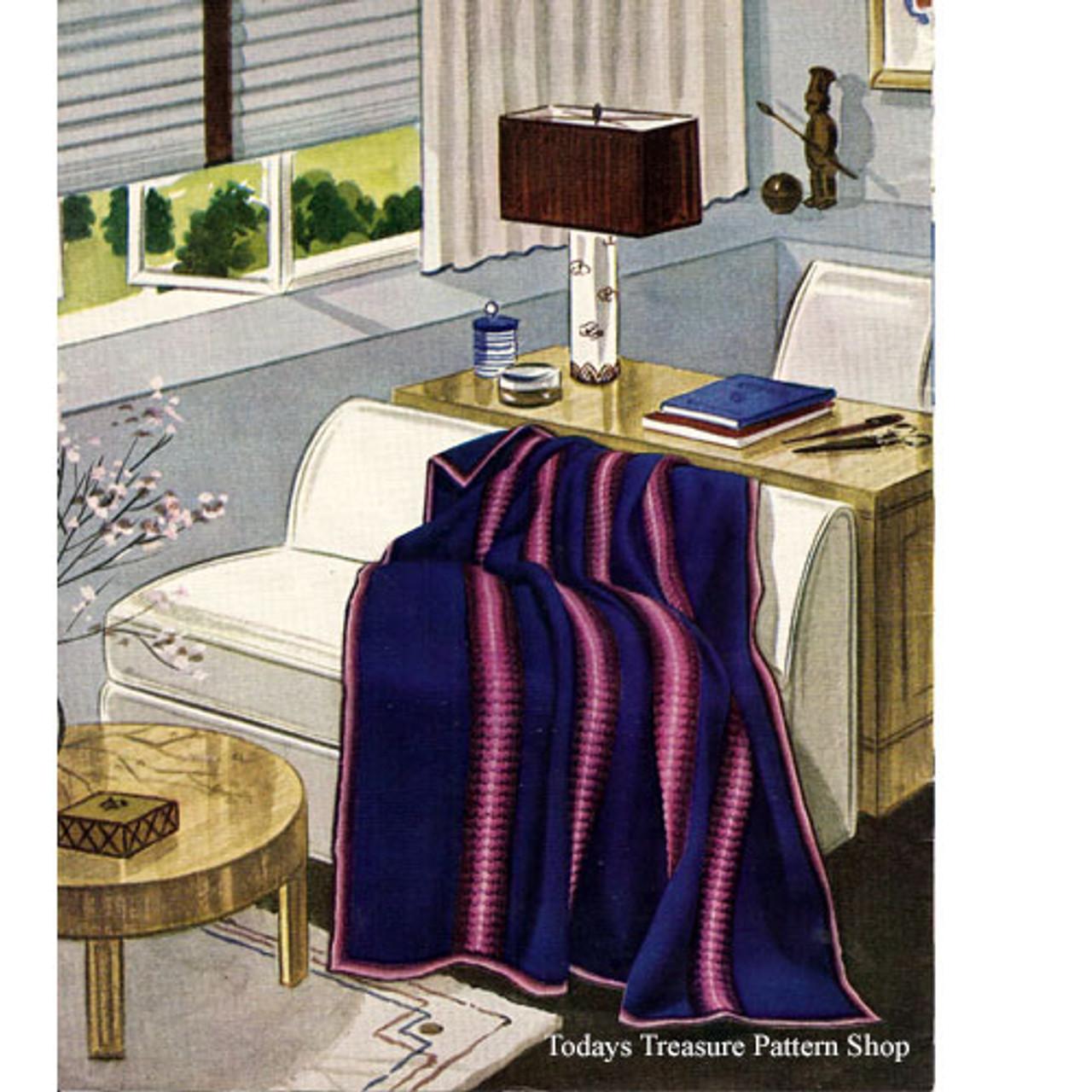 Beginners Striped Afghan Crochet Pattern