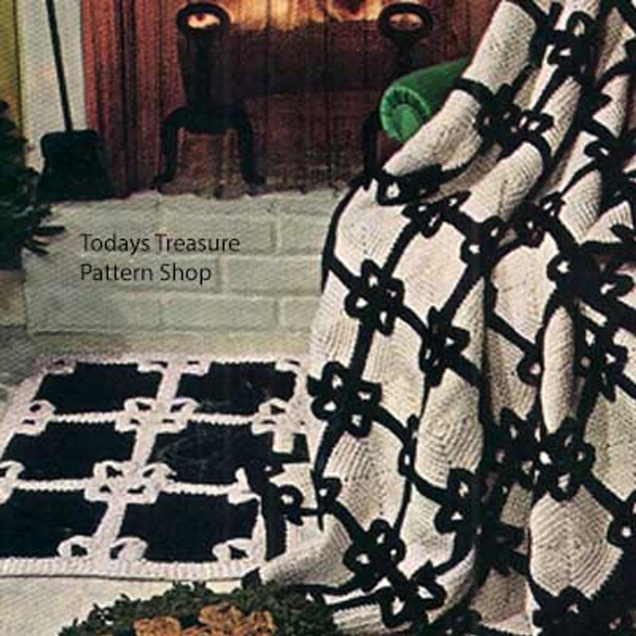 Crochet Black White Afghan Pattern