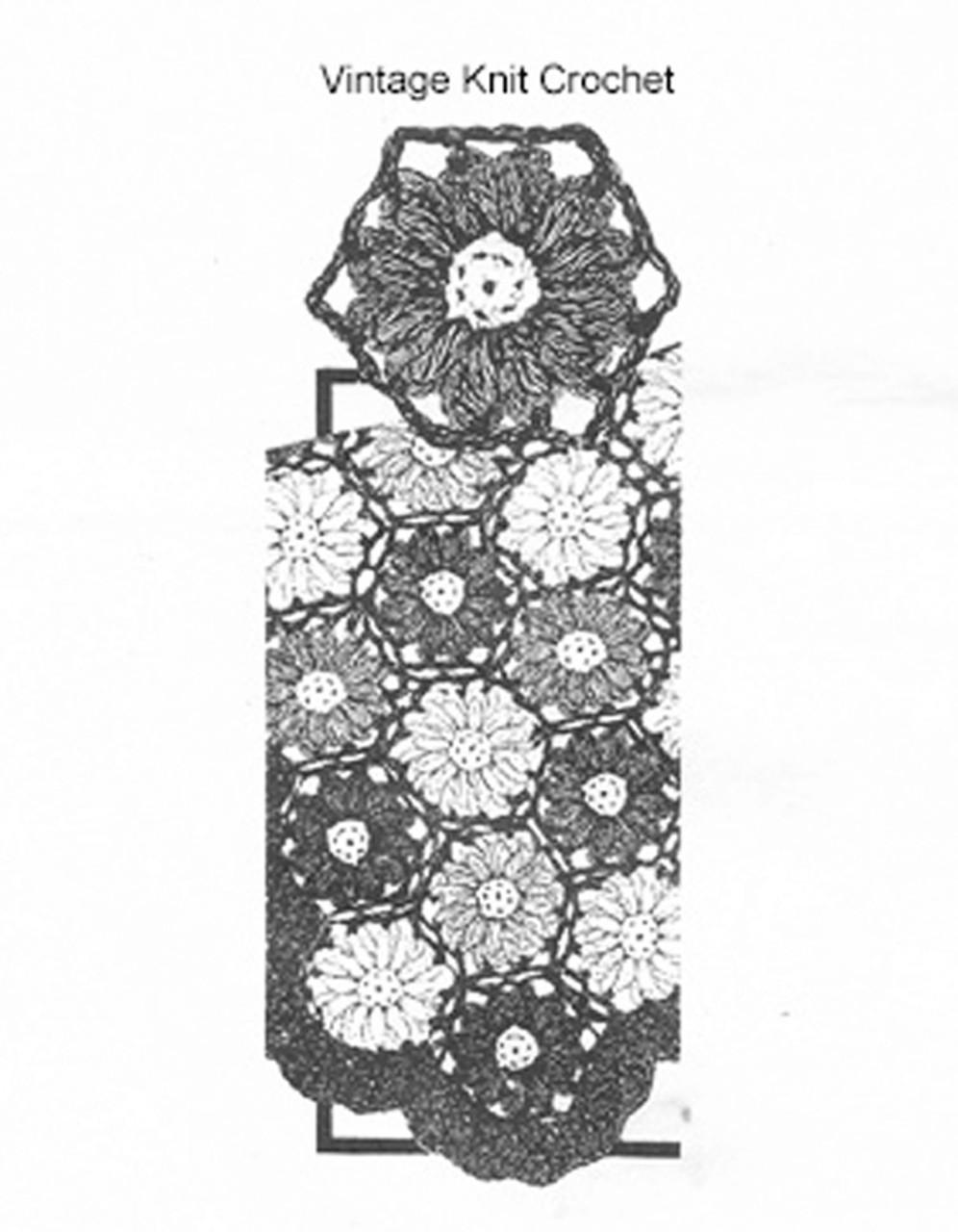 Mail Order Flower Afghan Crochet pattern, Laura Wheeler 711