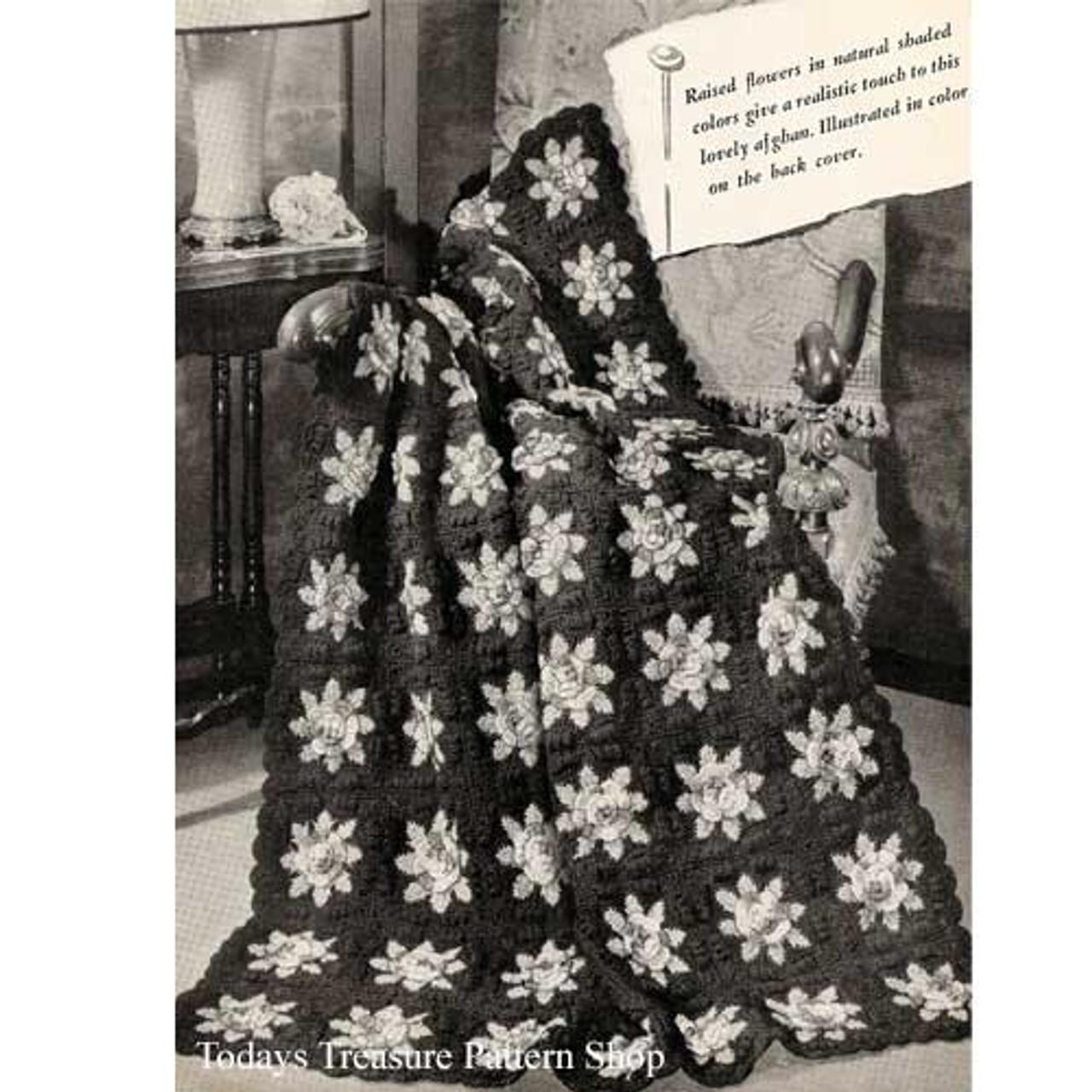 Vintage Charleston Garden Crochet Afghan Pattern