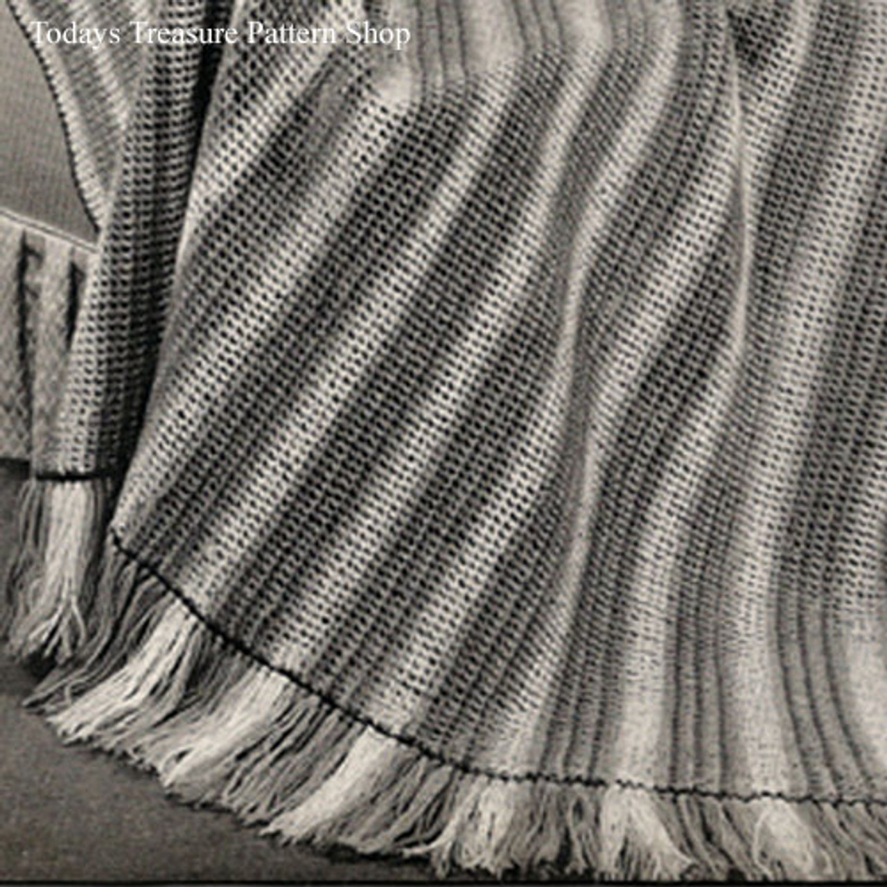 Crochet Afghan Pattern Striped and Reversible