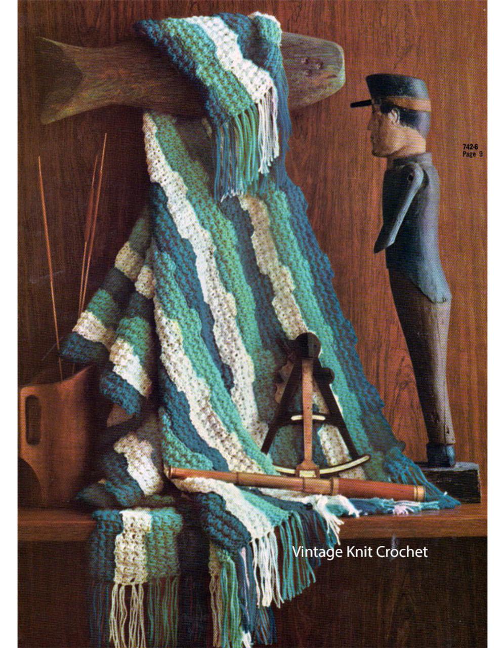Easy Crochet Ripple Afghan Pattern