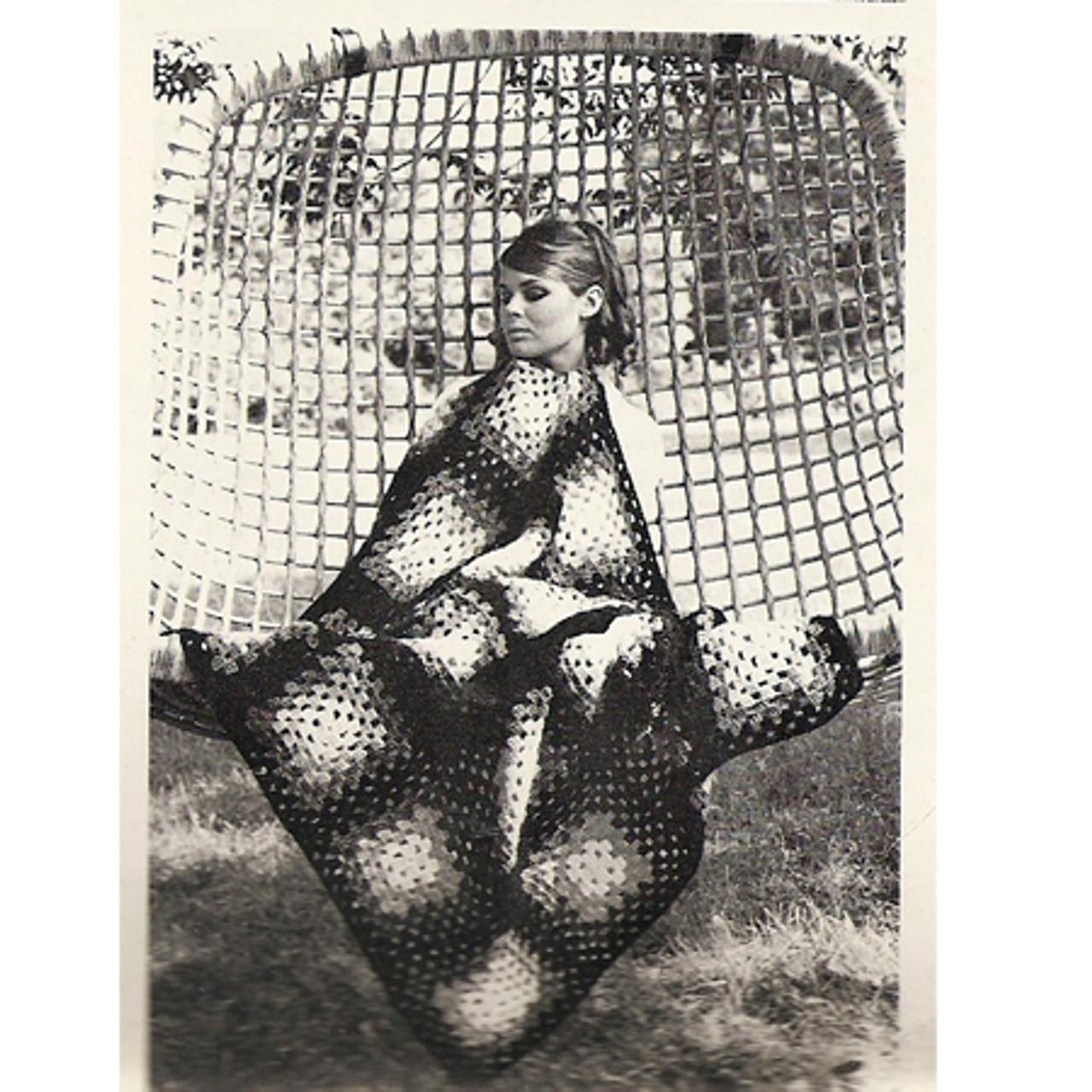 Easy Vintage Granny Square Afghan Pattern