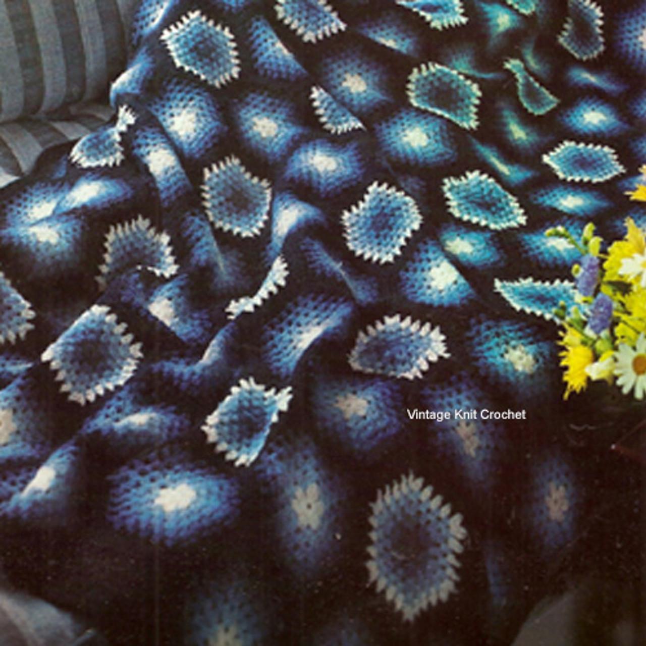 Vintage Hexagon Crochet Afghan Pattern
