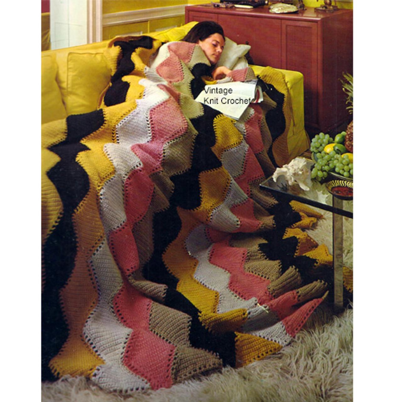 Wave Stripe Crochet Afghan Pattern