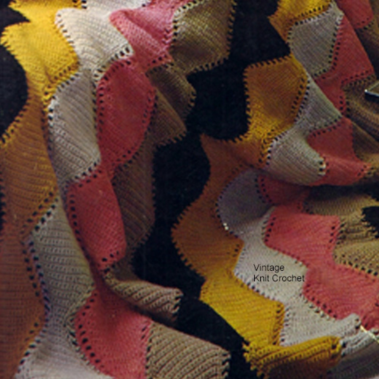 Colorful Striped Afghan Crochet Pattern