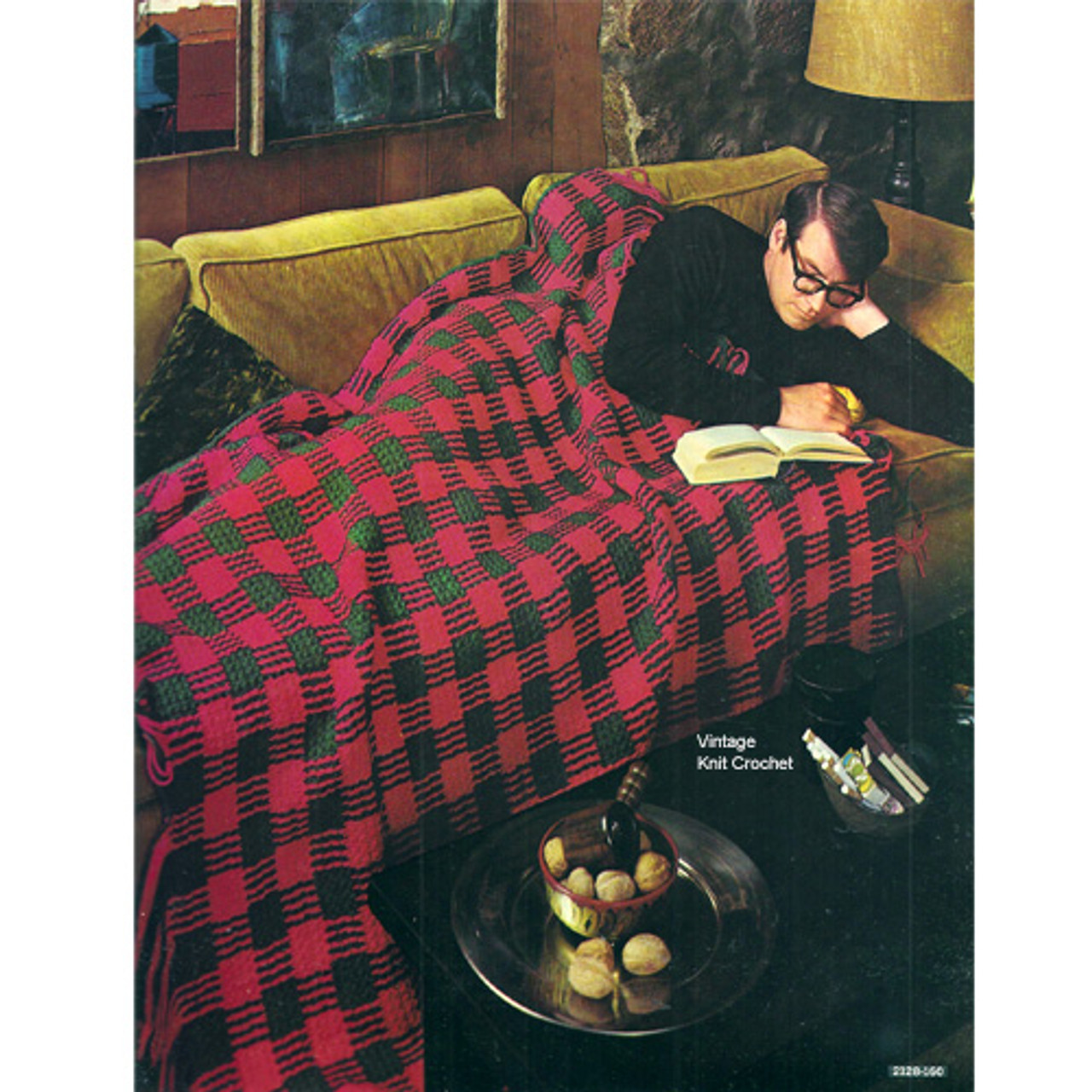 Mans Crochet Afghan Pattern, Tartan Plaid