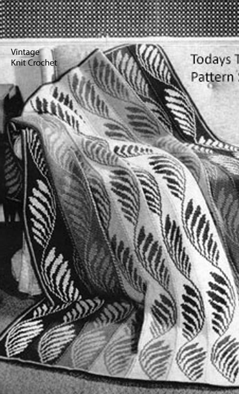 Crochet Blanket Pattern in Leaf Motif