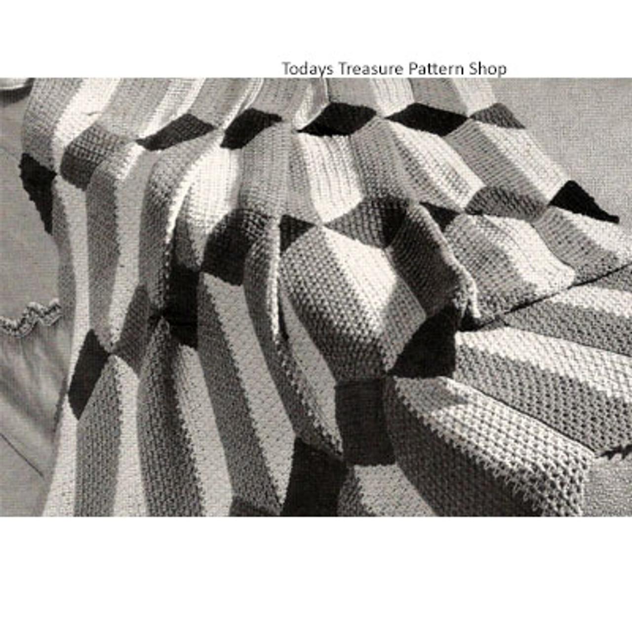 Geometric Panel Crochet Afghan Pattern
