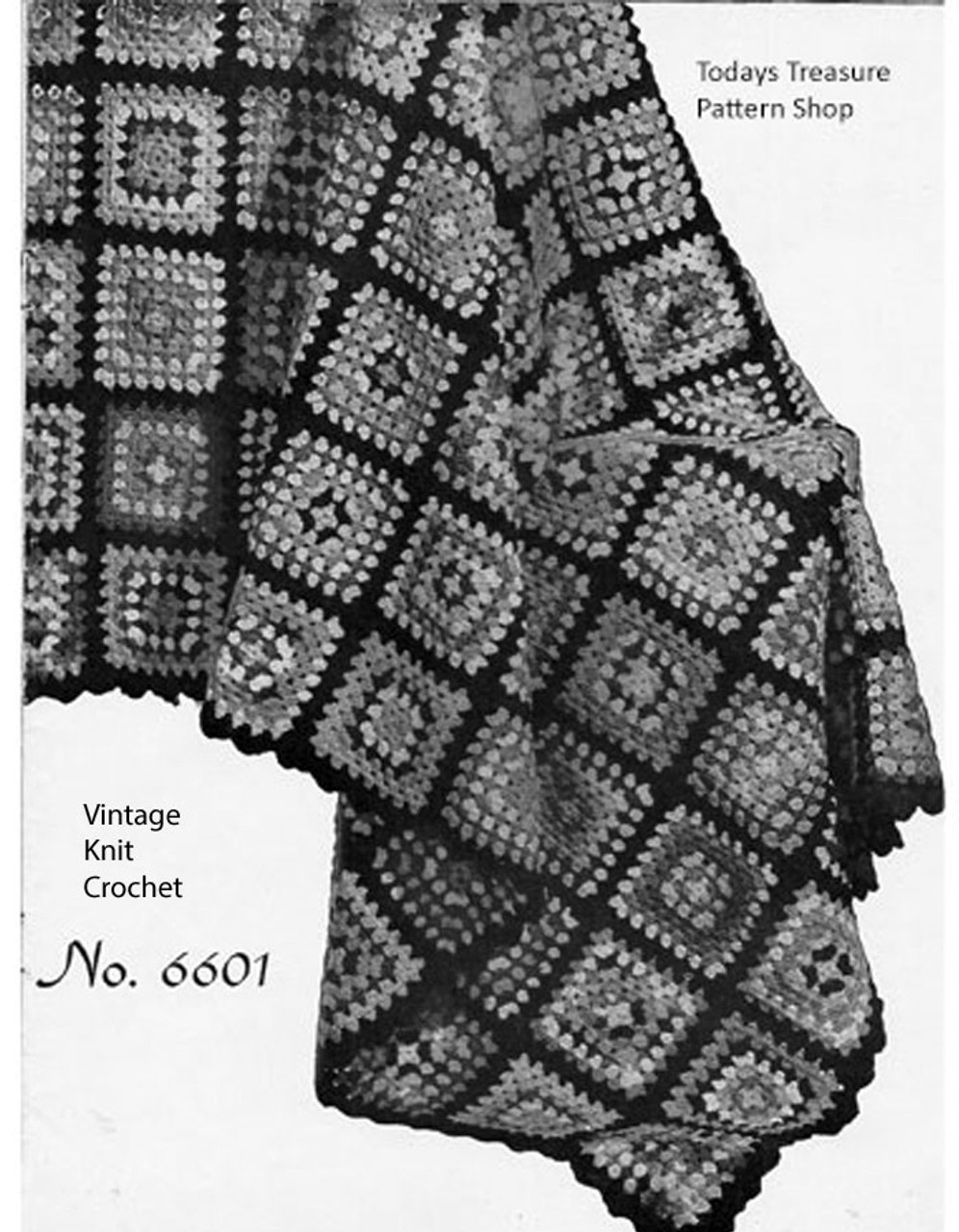 Vintage Crochet Granny Square Afghan Pattern No 6601,How To Get Rid Of Black Ants In Car