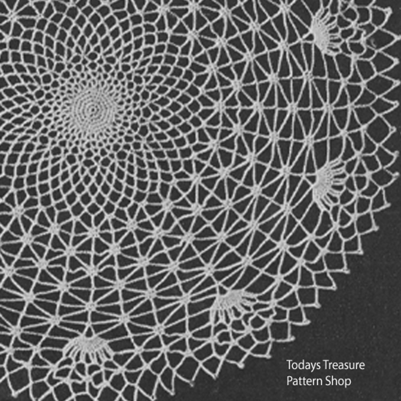 Vintage Spider Web Crochet Doily Pattern from American Thread