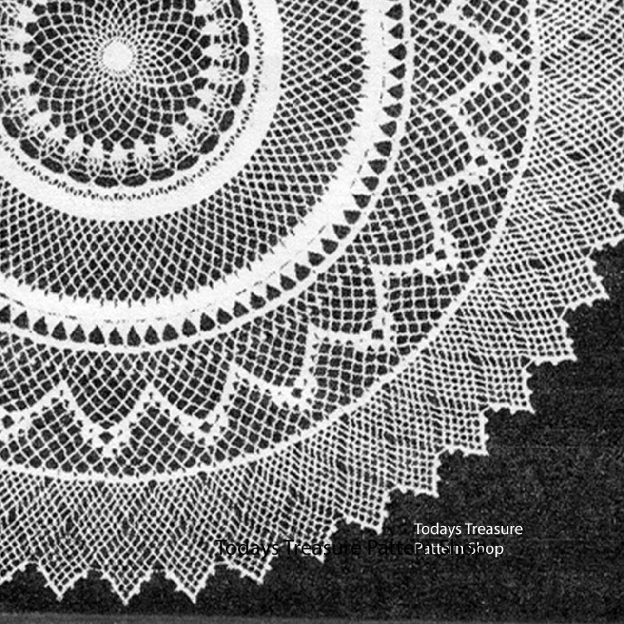 Pointed Border on Crochet Armenian Doily Pattern