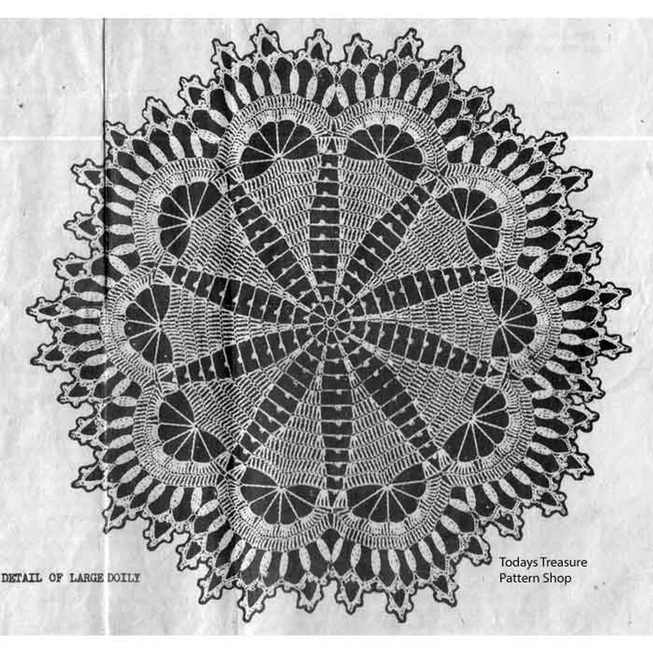 Detail of Star Doily with Shell Border Pattern