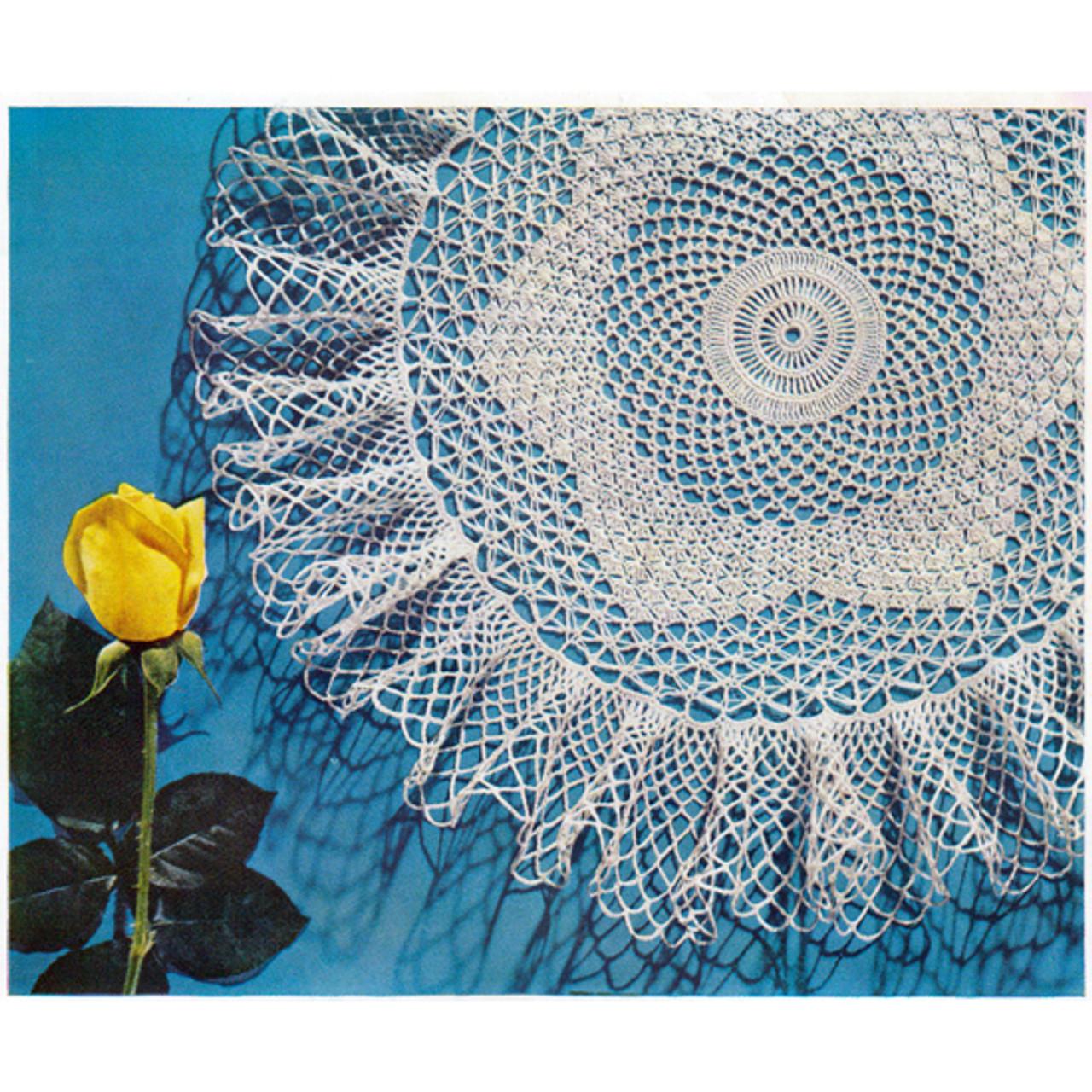 Vintage Rock Pool Crochet Doily Pattern from Coats & Clarks
