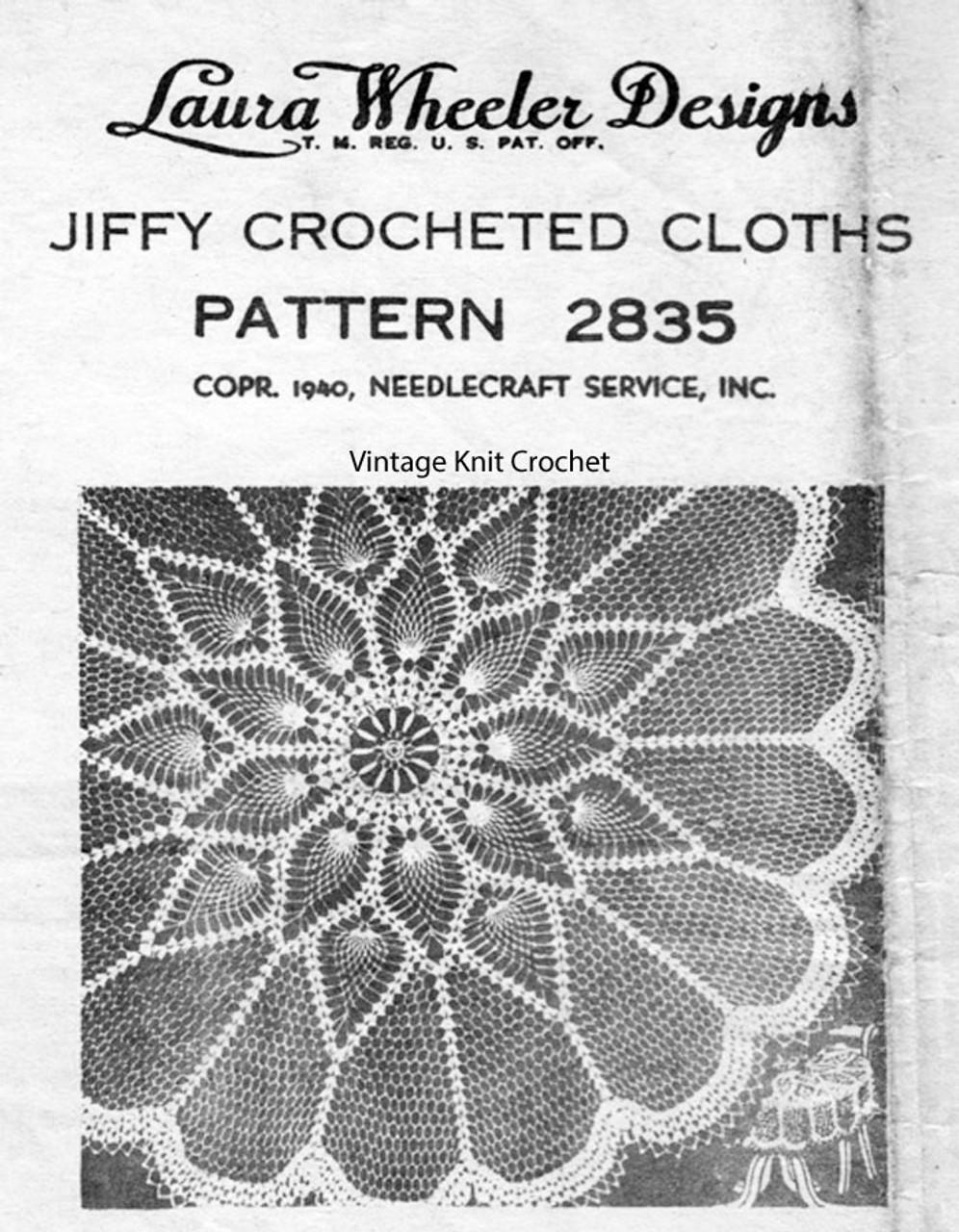 Round Pineapple Tablecloth Crochet Pattern Design 2835