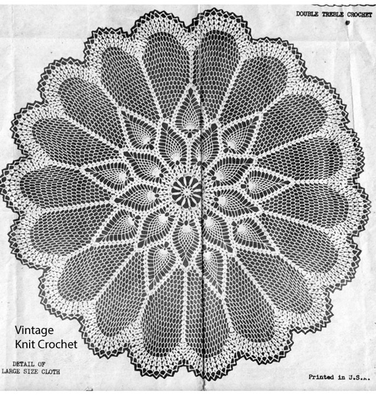 Crochet Pineapple Cloth Pattern, Laura Wheeler 2835