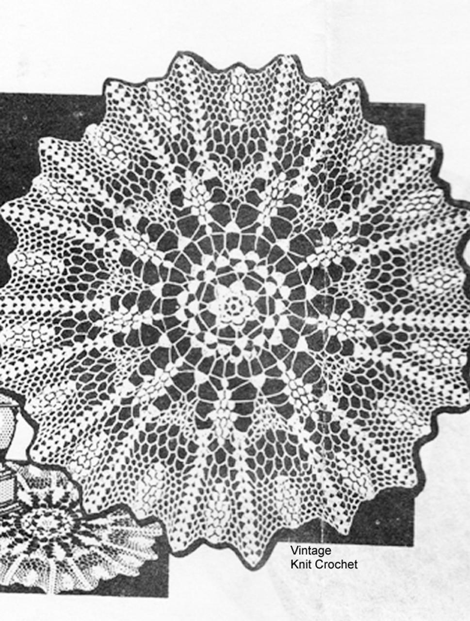 Vintage Grape Cluster Crochet Doily Pattern, Anne Cabot 2721