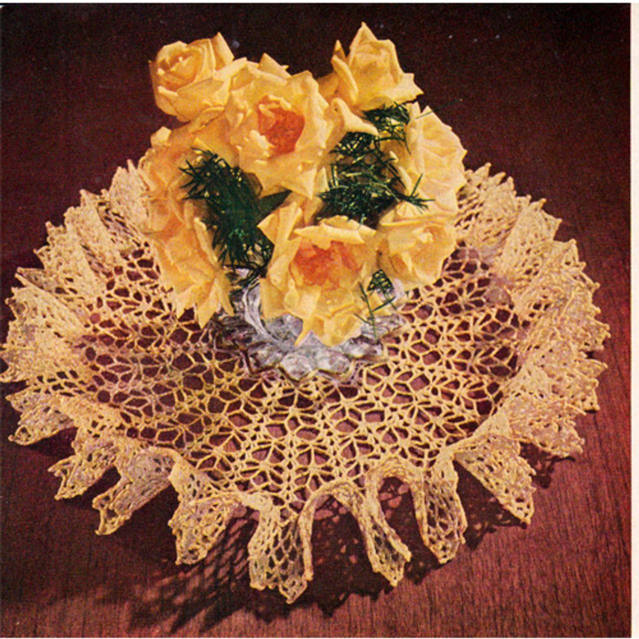 Ruffled Star Spangled Doily Crochet Pattern