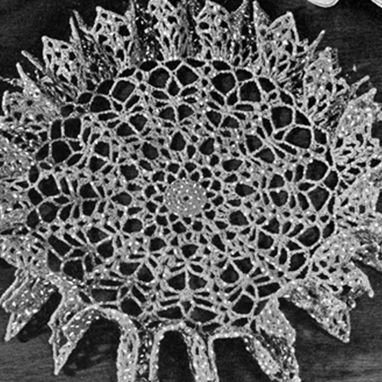 Vintage Crochet Pattern for Ruffled Star Spangled Doily