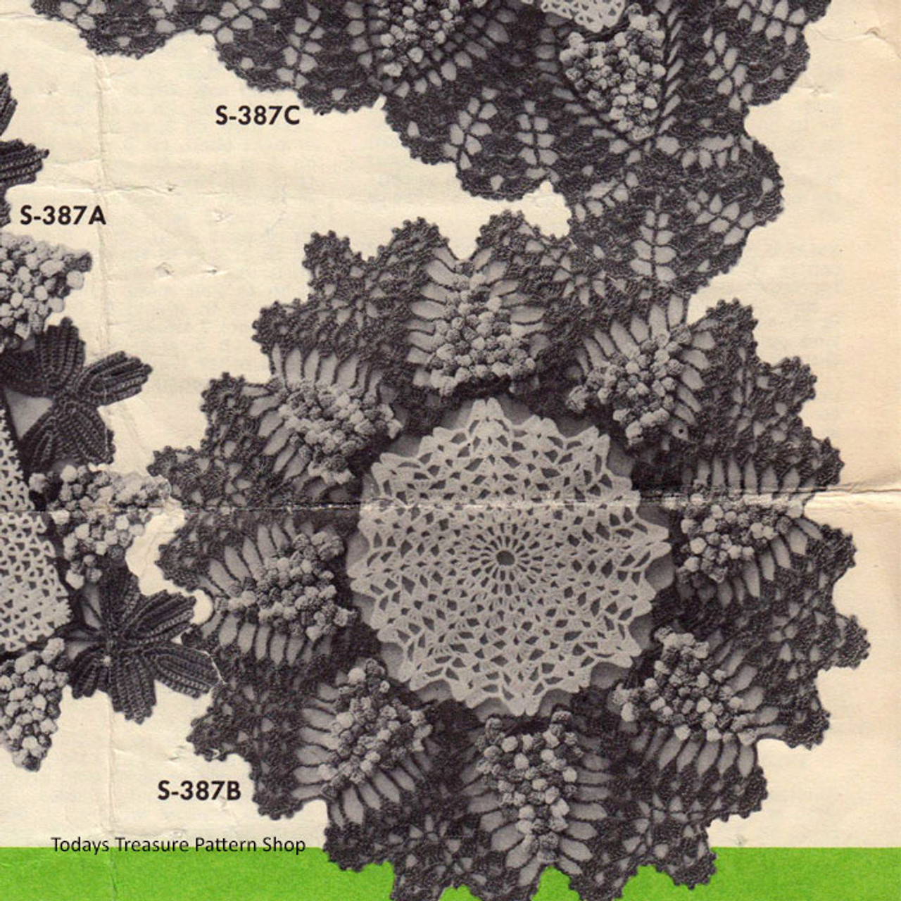 Vintage Grape Mat Doily Crochet Pattern
