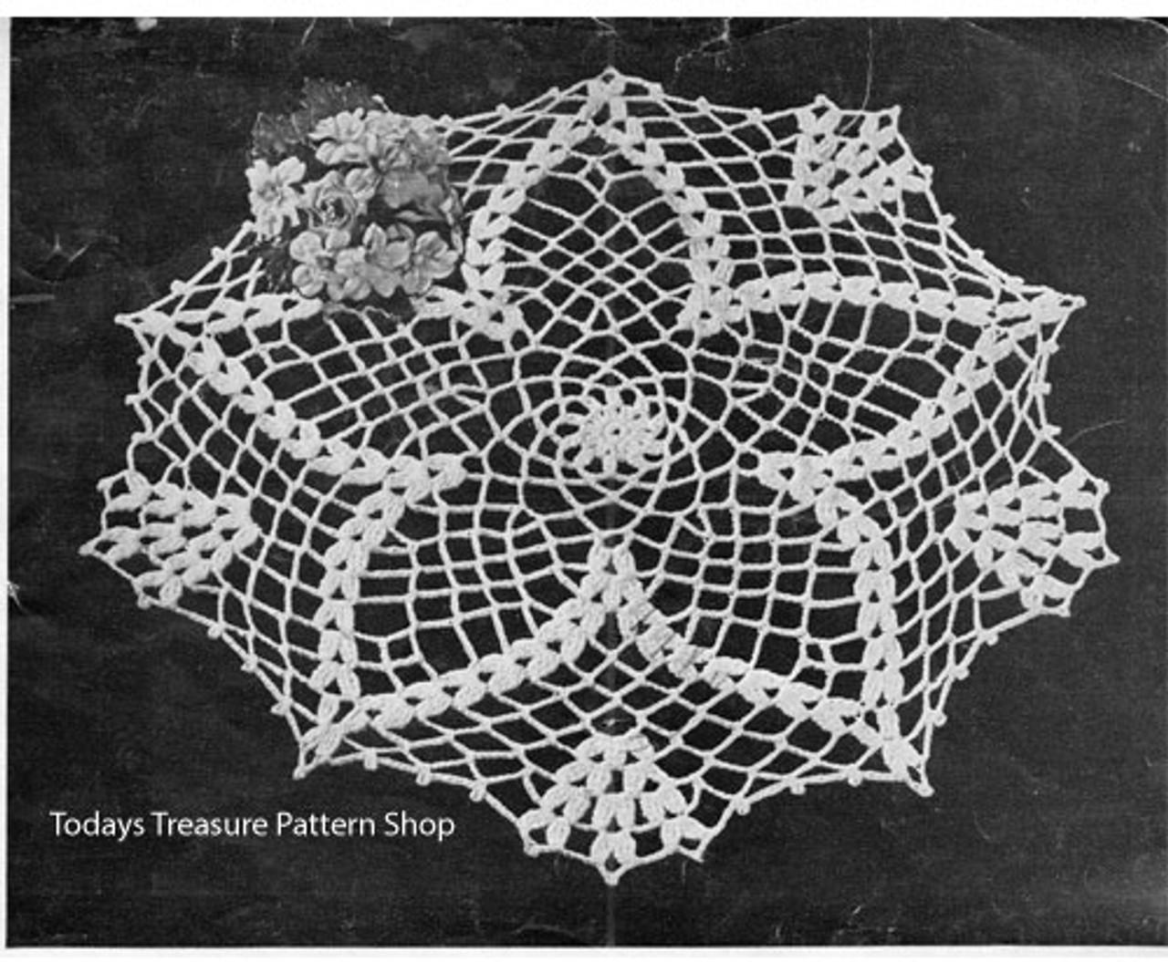 Cluster Stitch Star Crocheted Doily Pattern