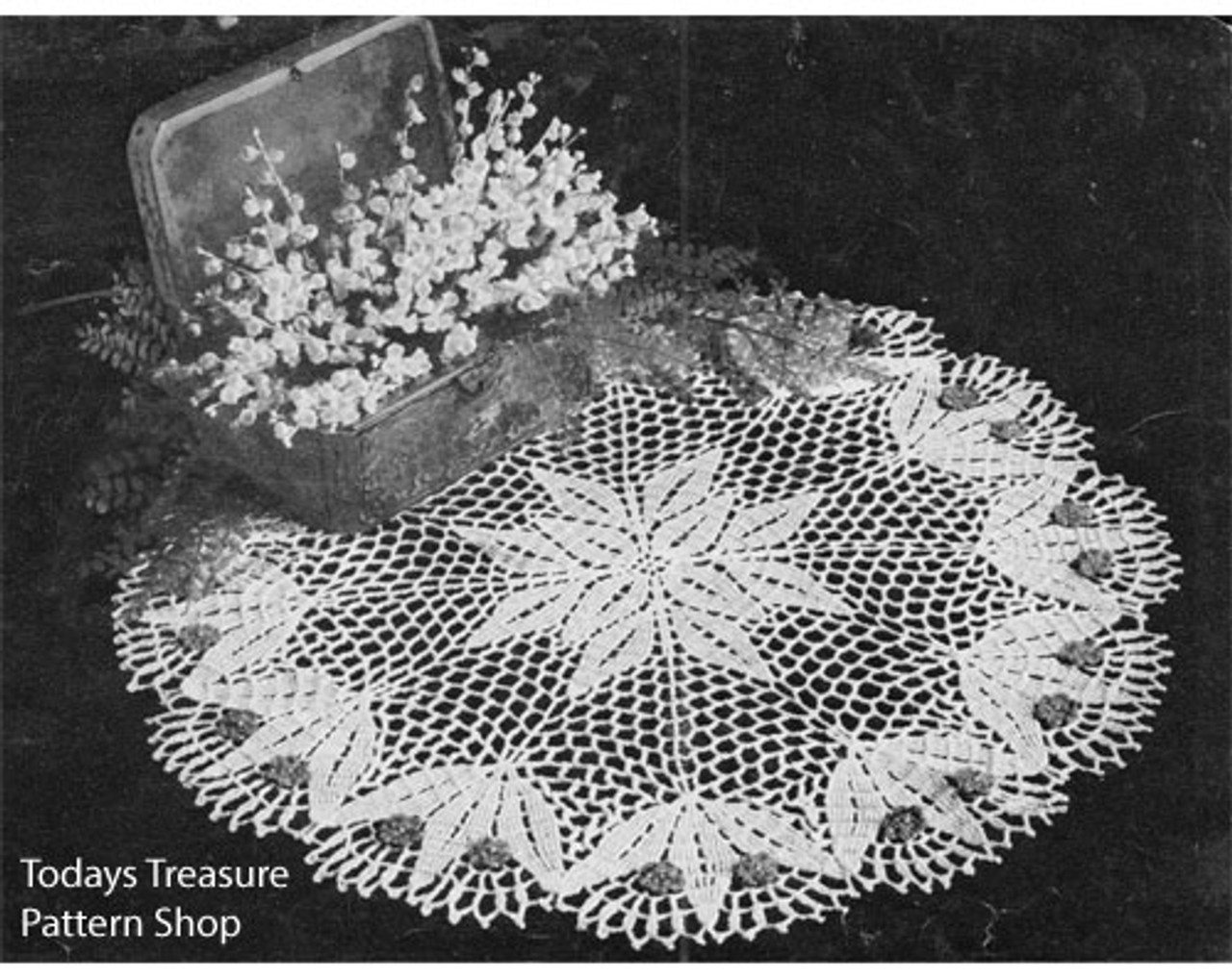 Crocheted Lilly Valley Doily Pattern