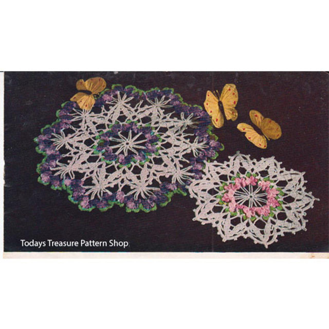 Crochet Violets Doily Pattern