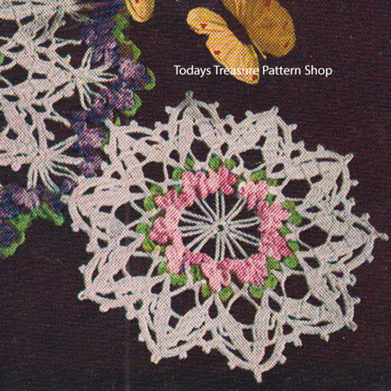 Violet Flower Crochet Pattern Pattern from American Thread