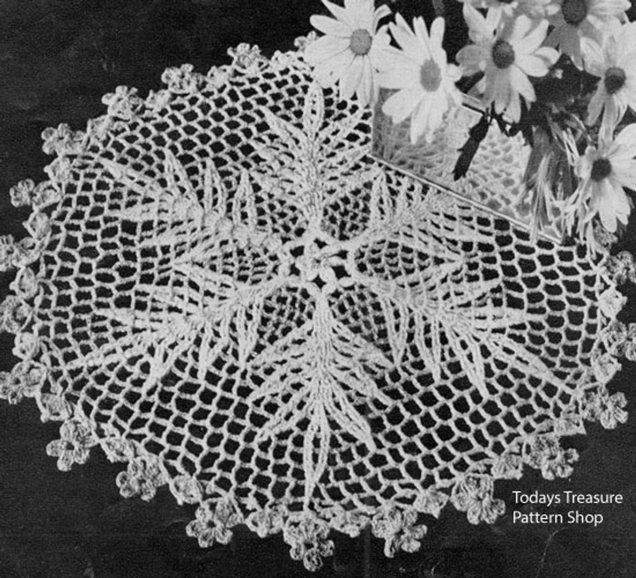 Small Crochet Fern Doily Pattern from American Thread