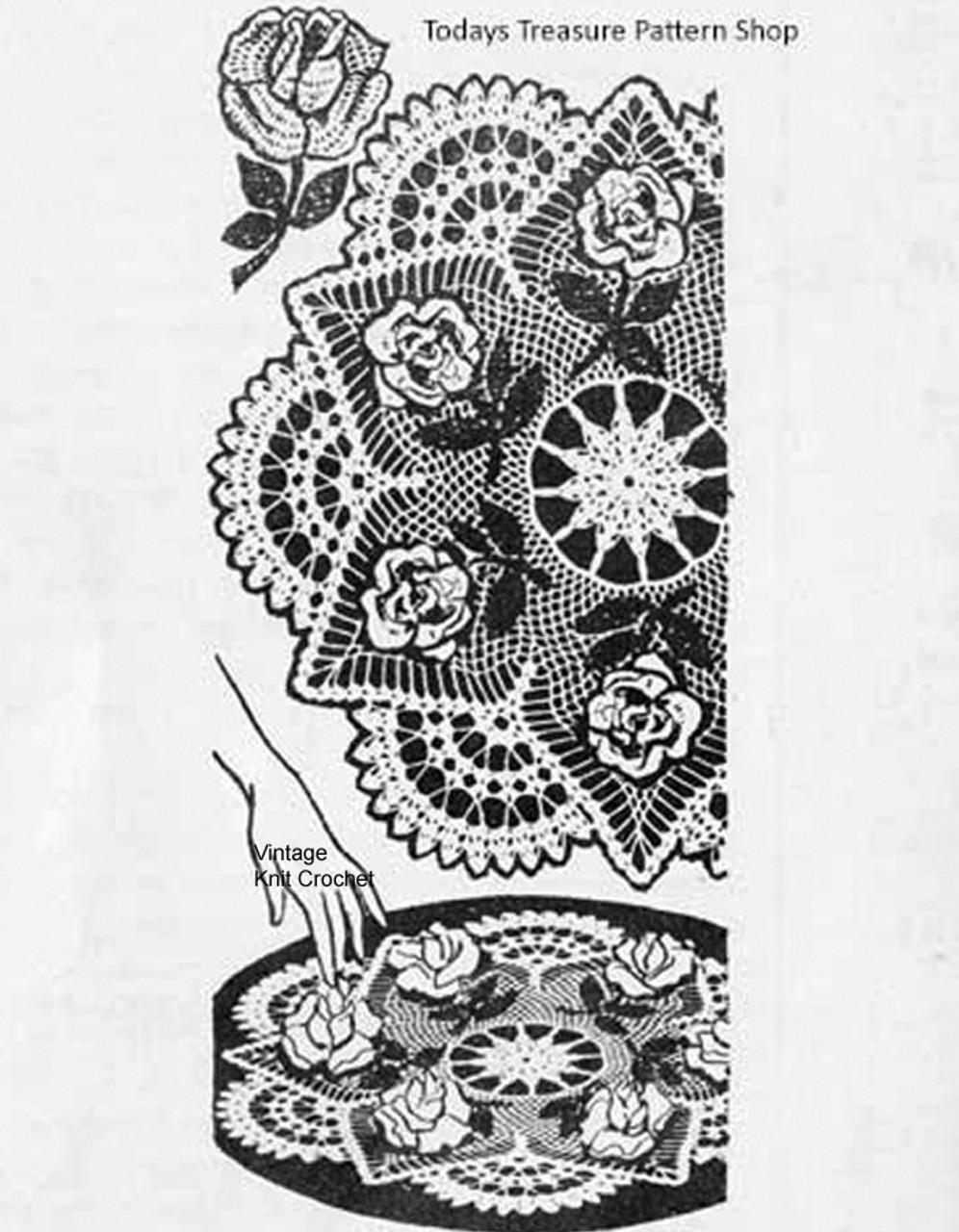 Mail Order Rose Doily Pattern 3-d, Laura Wheeler 603