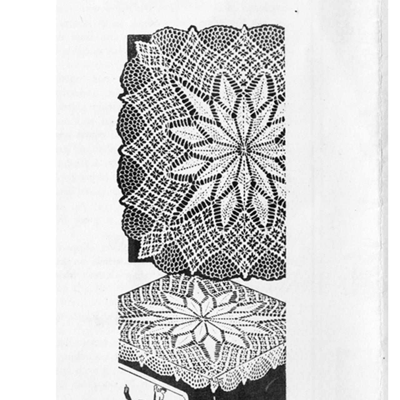 Flower Crocheted Centerpiece Doily pattern