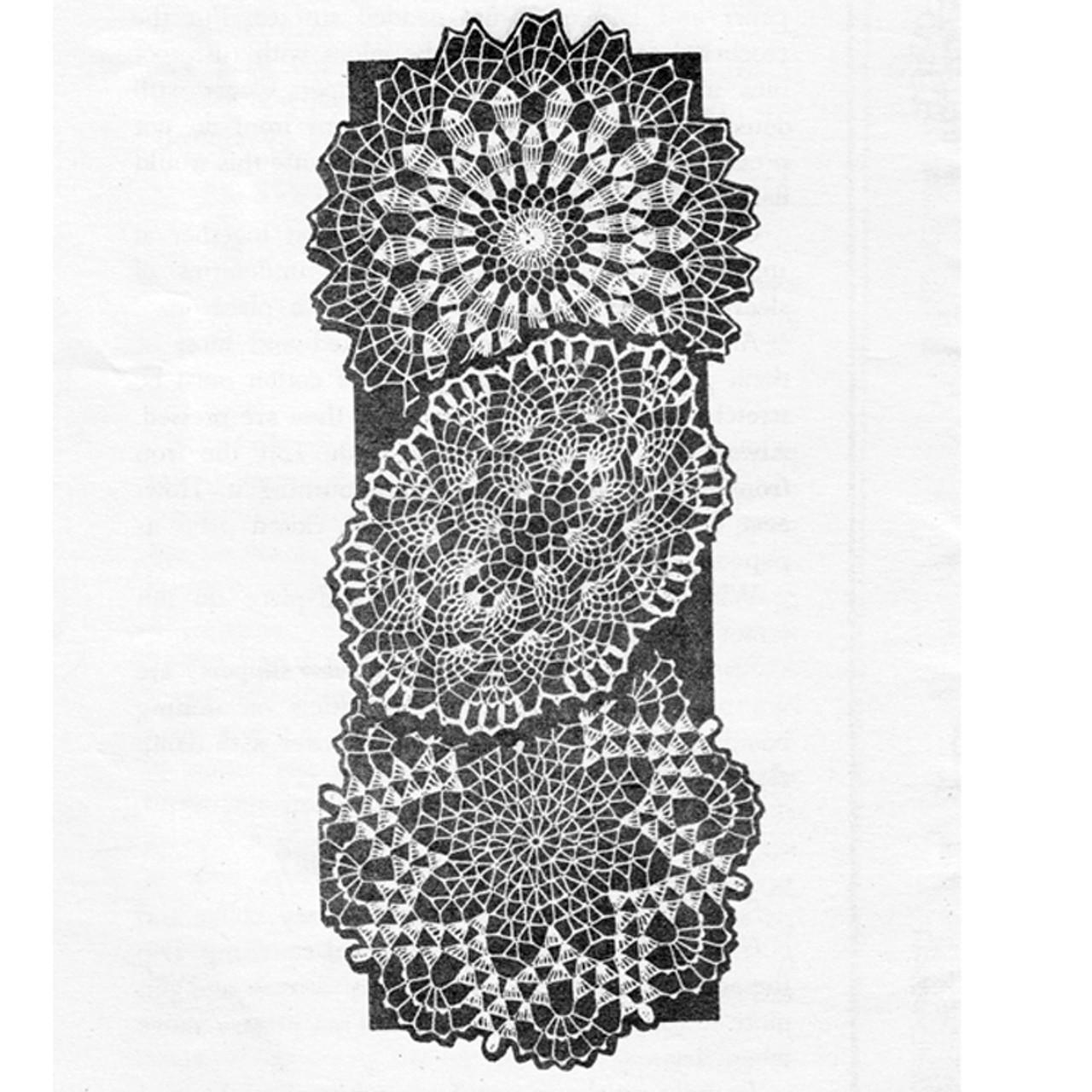 Vintage Star, Pineapple, Flower Crochet Doily Mail Order Pattern 7394