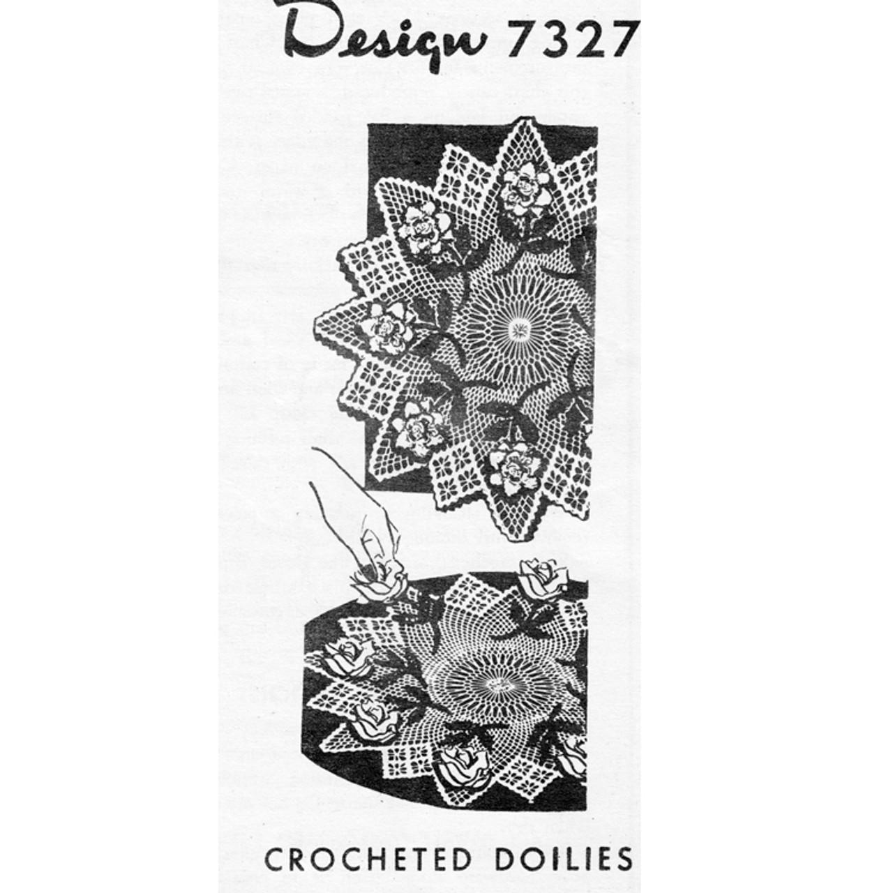 Mail Order 7237, Large Crochet Rose Doily Pattern