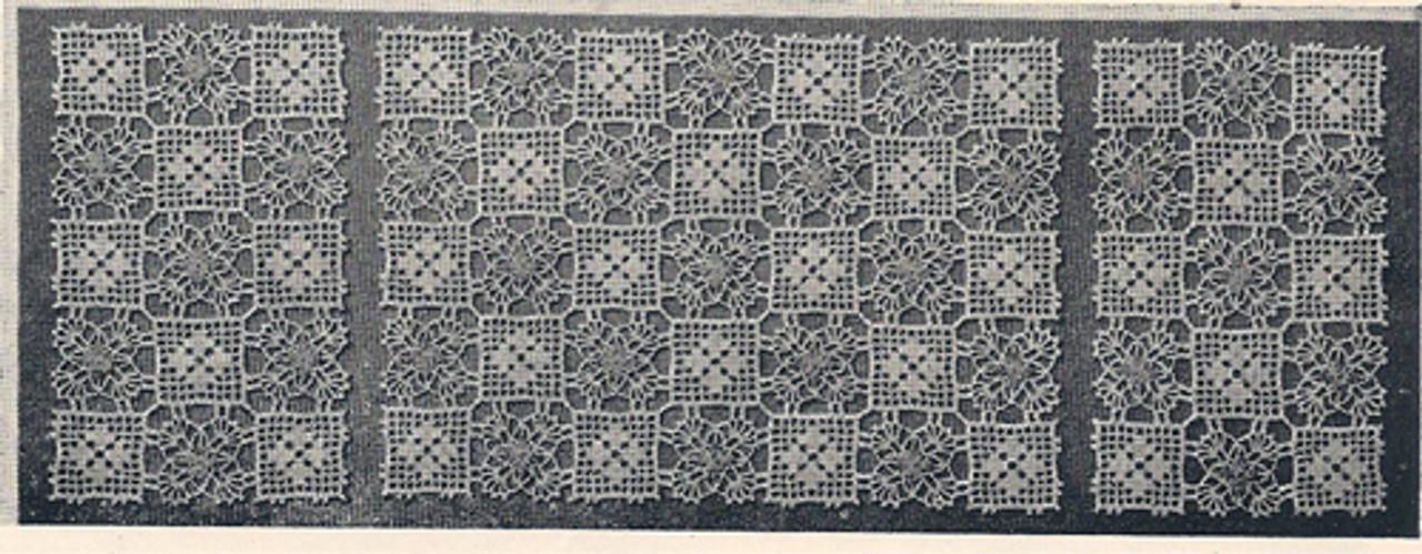 Vintage Crochet Scarf, Free Pattern