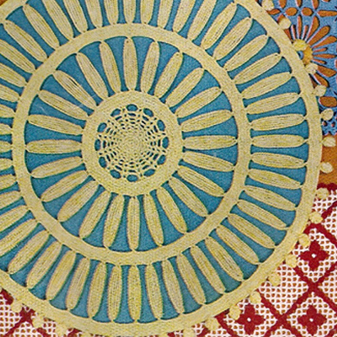 Crocheted Double Wheel Doily Pattern