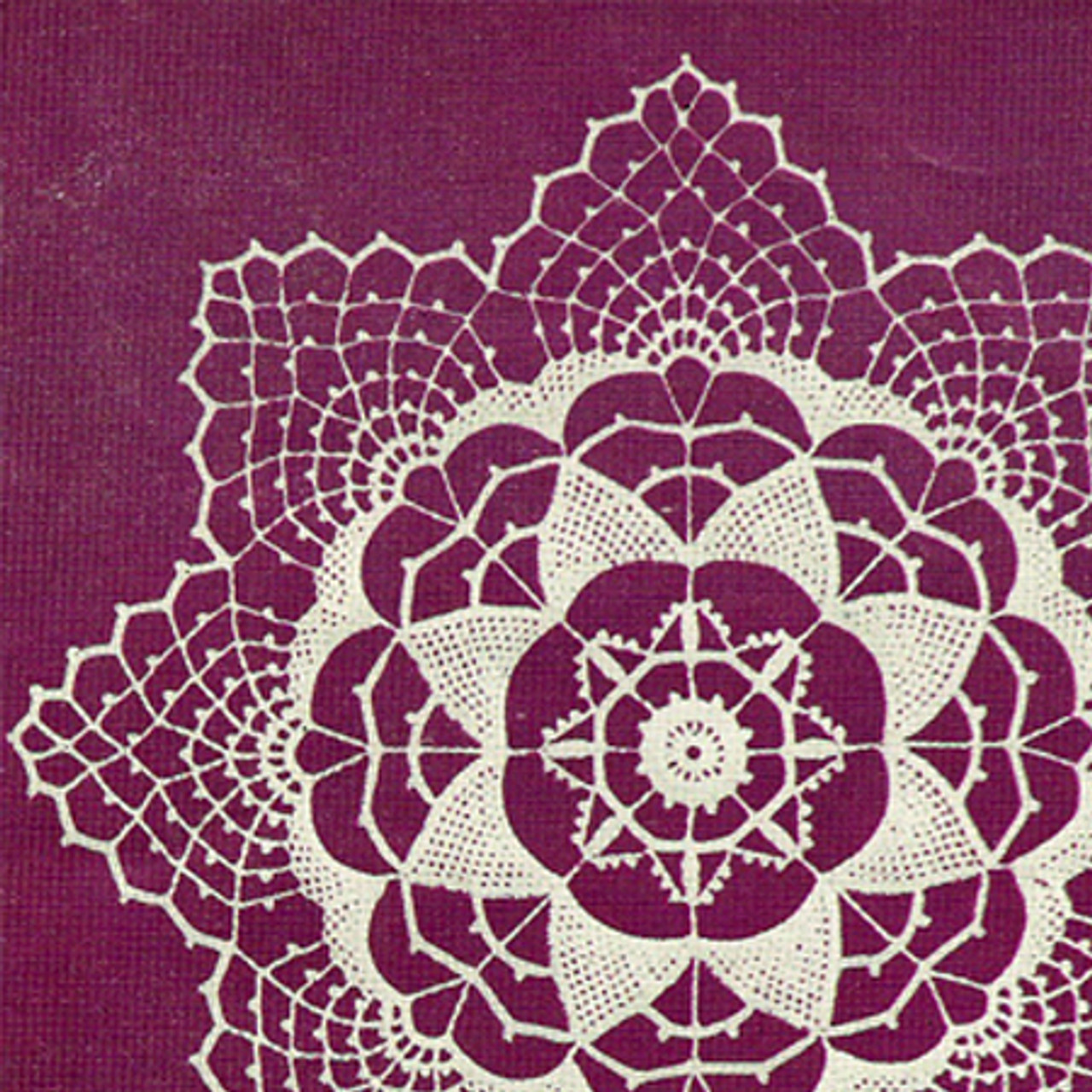 Pointed Harmony Crochet Doily Pattern from Lily Mills