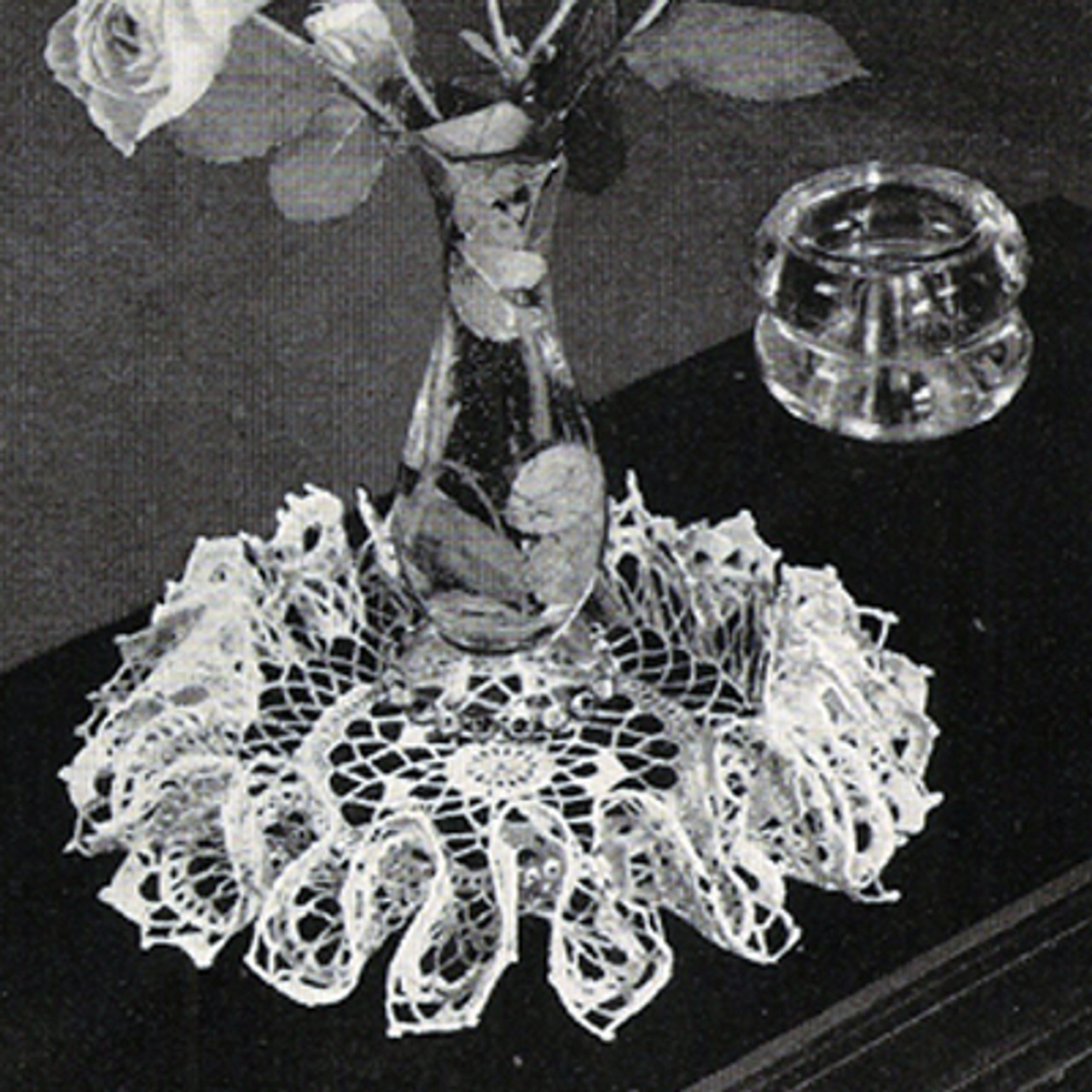 Free Vintage Crochet Ruffled Doily Pattern
