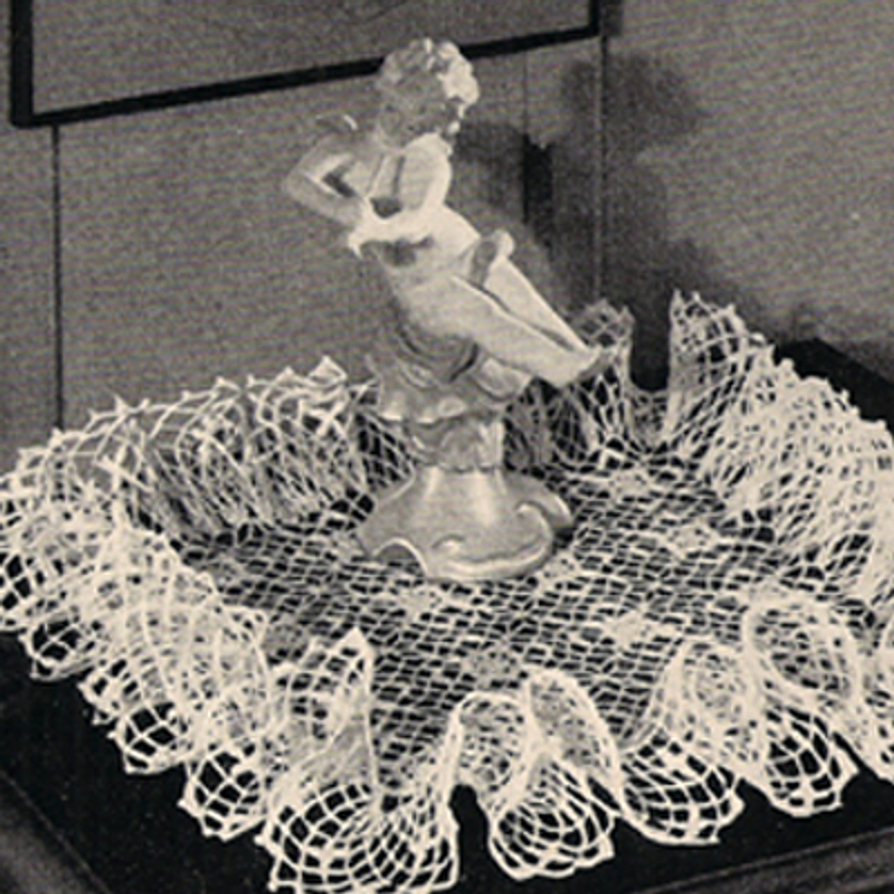 Crochet Square Ruffled Doily Pattern