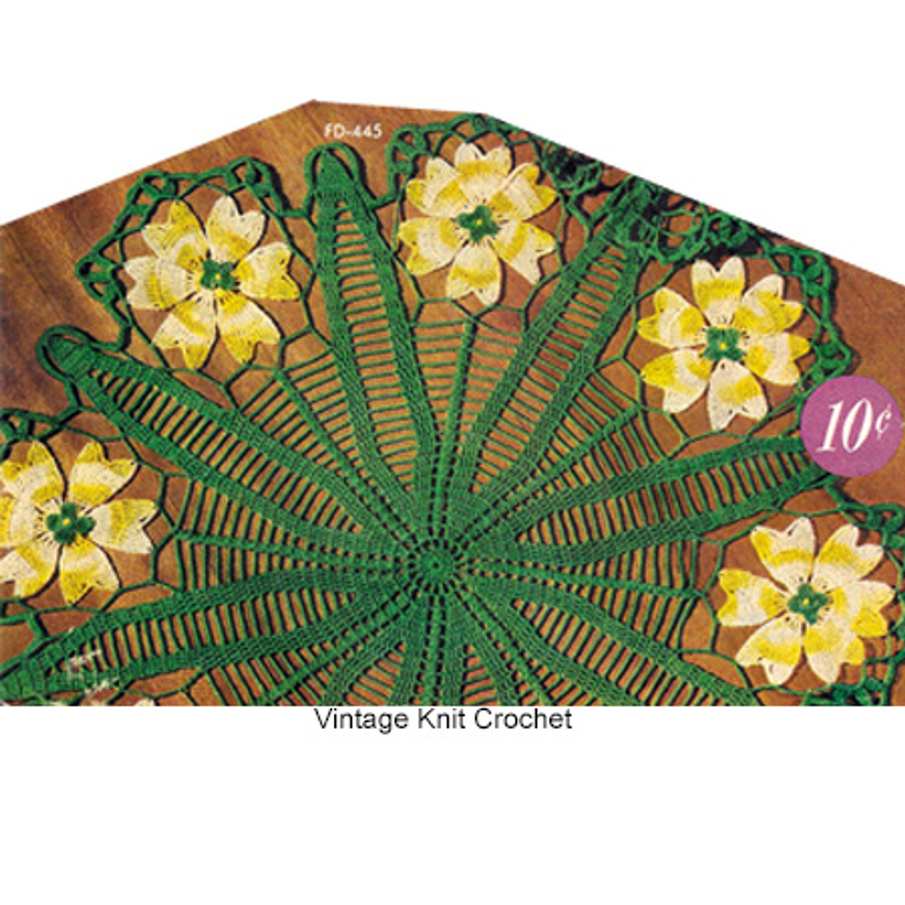 Crocheted Coreoposis Doily Pattern