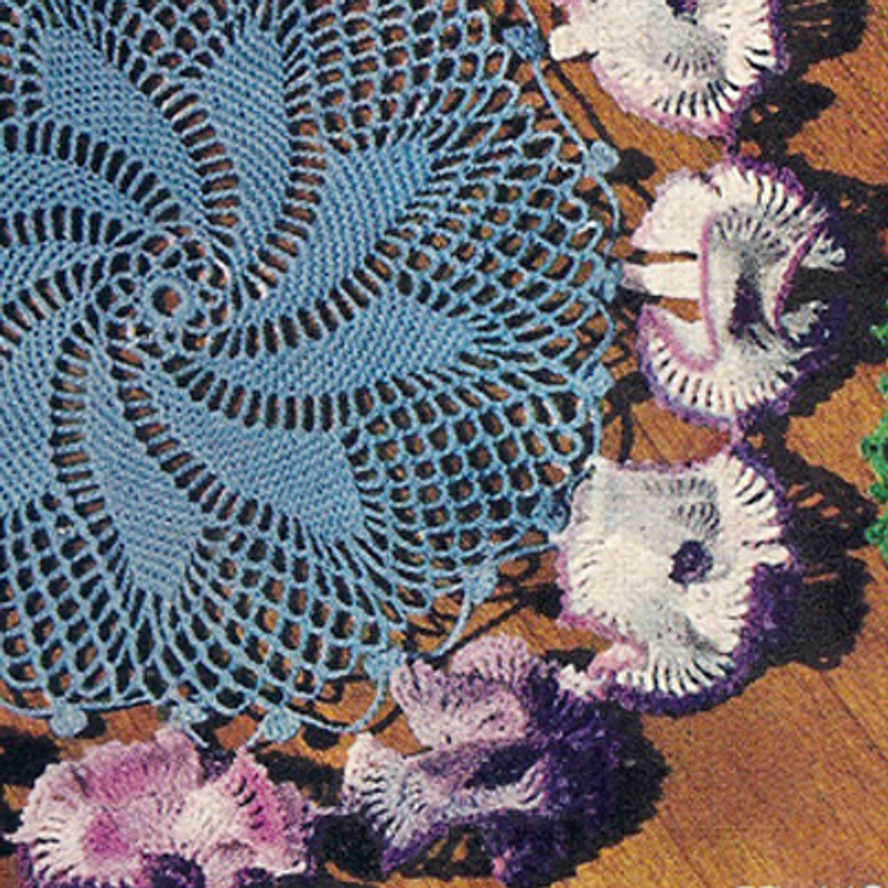 Crocheted Petunia Doily pattern