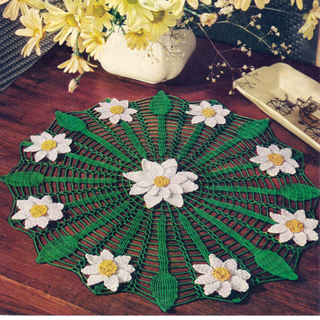 Crochet Daisy Spiderweb Doily Pattern