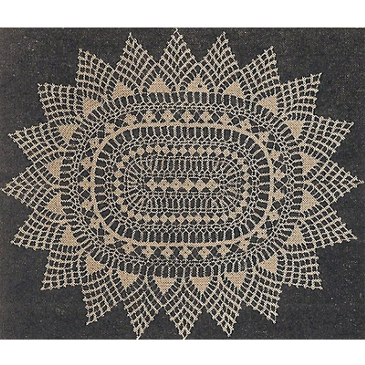 Workbasket Oval Doily Crochet Pattern
