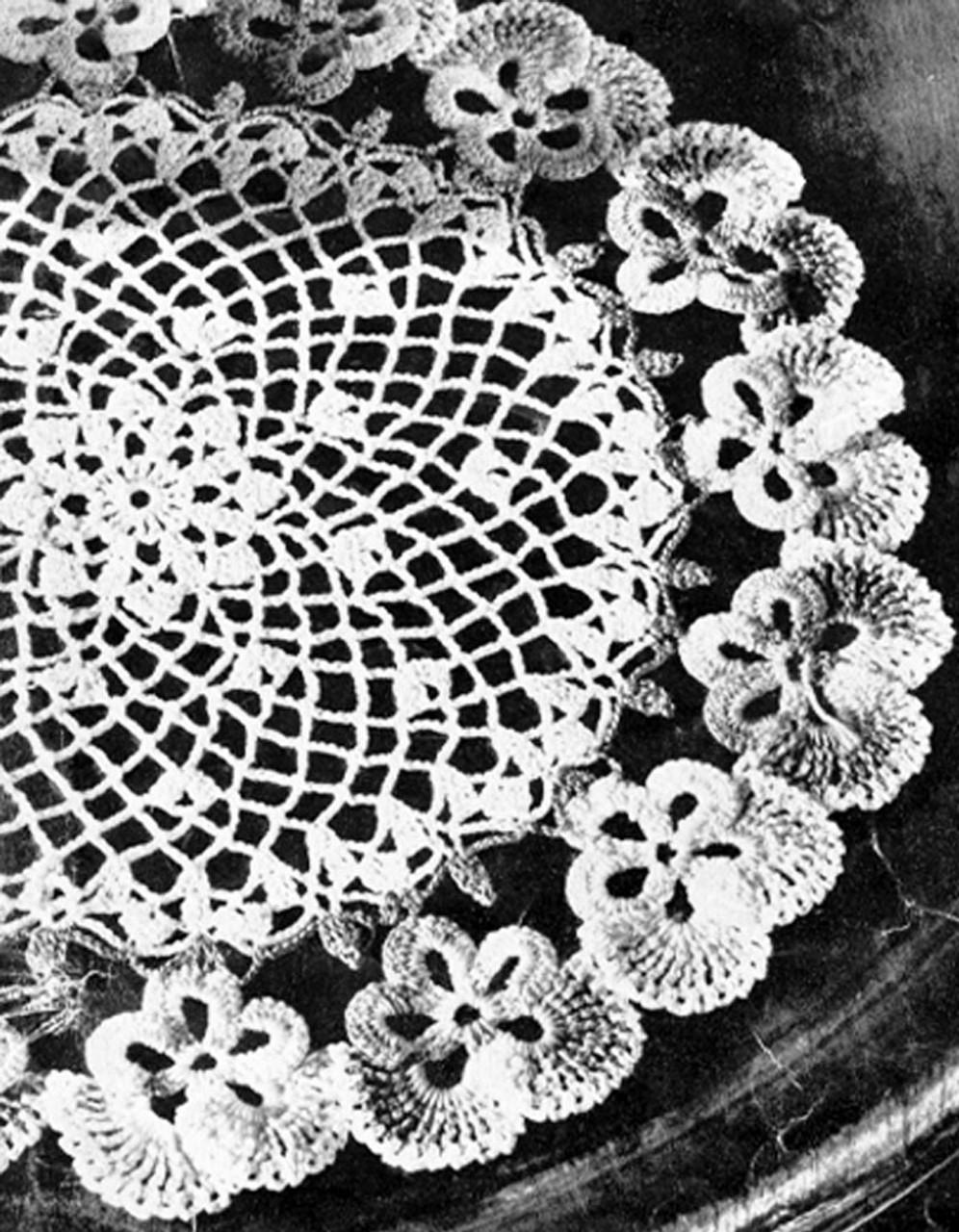 Colorful Pansy Doily Crochet Pattern