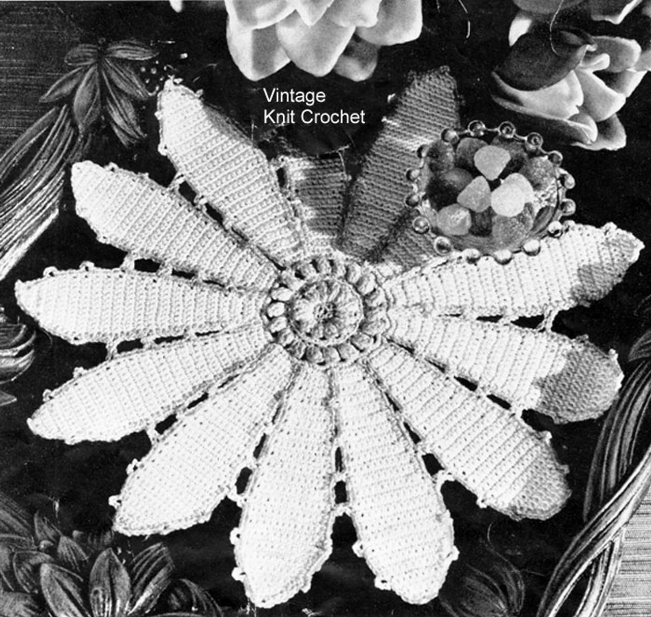Pond Lily Crochet Doily Pattern