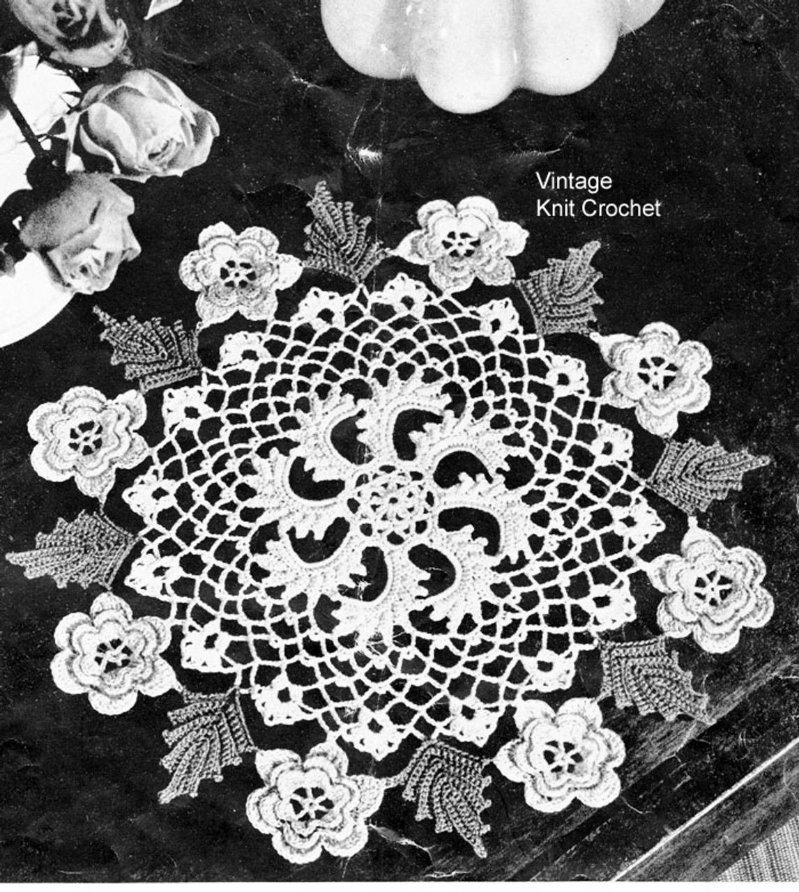Crocheted Irish Rose Doily Pattern