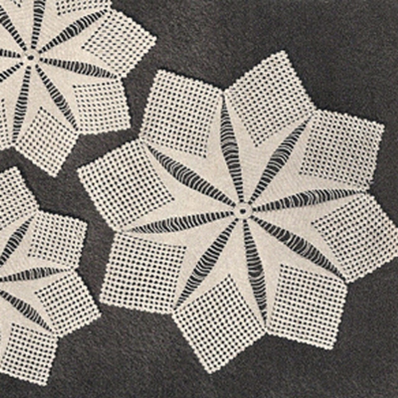 Vintage Crocheted Star Doilies Pattern
