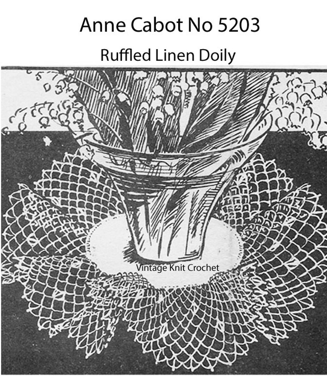Free Crochet Ruffled Doily Pattern No 5203